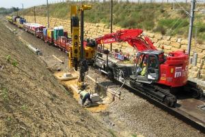 Railway excavators