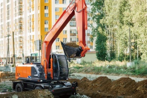 New arrival WHEELED EXCAVATORS