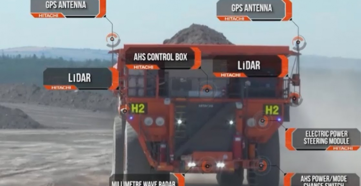 Hitachi dumptrucks Autonomous Haulage Solution - AHS
