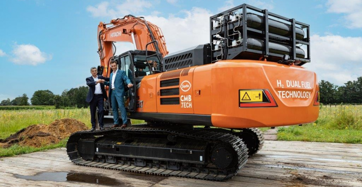 CMB.TECH and Luyckx present hydrogen-powered excavator